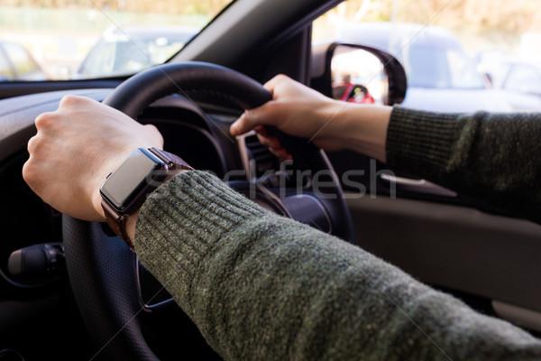 Close up of customer driving car Stock photo © wavebreak_media