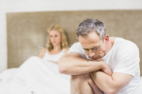 Upset couple sulking each other Stock photo © wavebreak_media