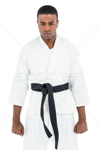 портрет серьезный каратэ игрок Постоянный белый Сток-фото © wavebreak_media