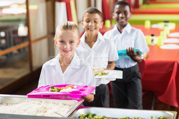 Portret school kinderen lunch pauze tijd Stockfoto © wavebreak_media