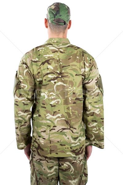 Asker ayakta beyaz adam güvenlik Stok fotoğraf © wavebreak_media