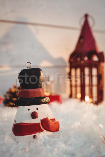 Stok fotoğraf: Kardan · adam · sahte · kar · Noel · zaman · kış