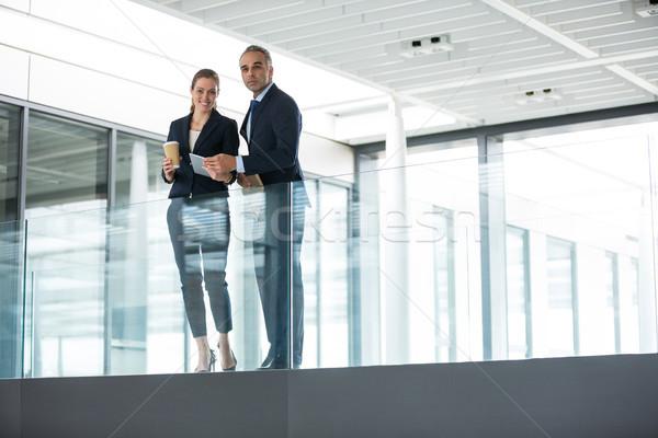 бизнеса коллеги Постоянный служба коридор портрет Сток-фото © wavebreak_media