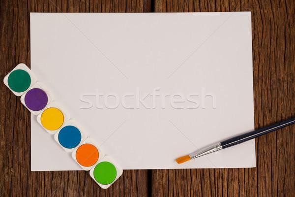 Pincel acuarela paleta blanco papel educación Foto stock © wavebreak_media