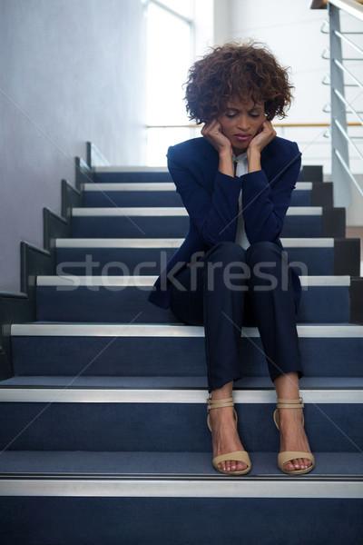 女性実業家 座って 手順 女性 ビジネスマン ストックフォト © wavebreak_media