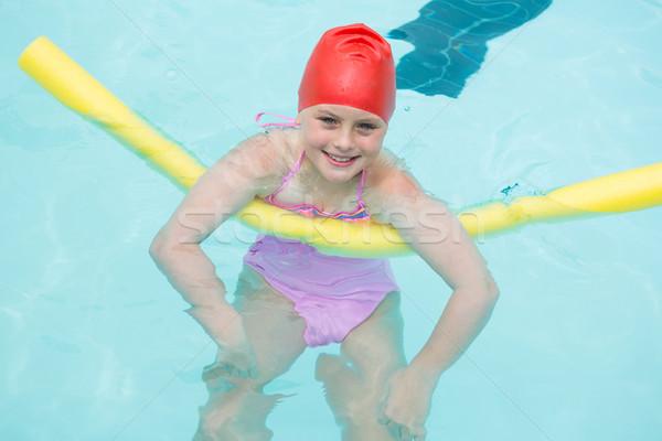 Sonriendo nina piscina feliz nino piscina Foto stock © wavebreak_media