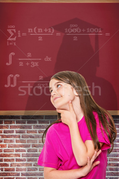 Image cute petite fille pense Photo stock © wavebreak_media