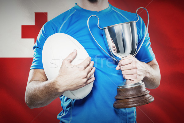 Imagen rugby jugador trofeo Foto stock © wavebreak_media