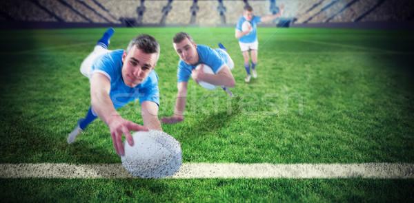 Imagem rugby jogador homem Foto stock © wavebreak_media