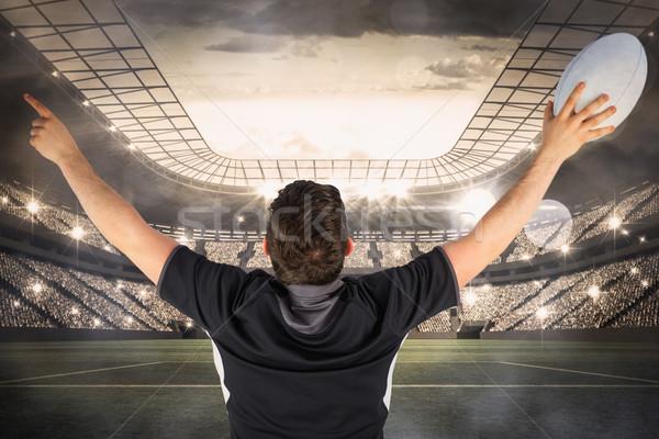 Afbeelding Maakt een reservekopie rugby speler Stockfoto © wavebreak_media