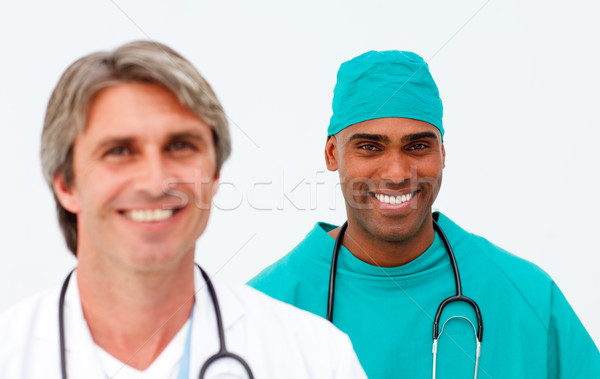 Portrait of two self-assured doctors Stock photo © wavebreak_media