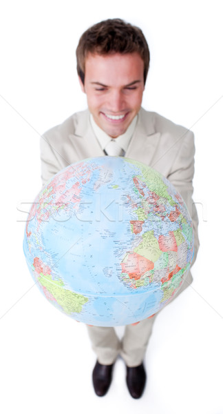 Visionary Businessman smiling at global business expansion Stock photo © wavebreak_media