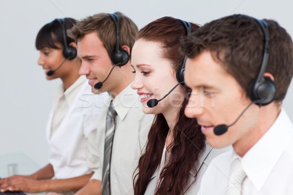 Manager working with his team in a call center Stock photo © wavebreak_media
