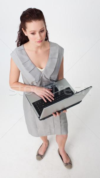 女性実業家 ラップトップを使用して 白 コンピュータ ストックフォト © wavebreak_media