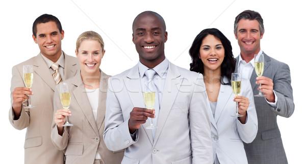 肖像 ビジネスチーム 飲料 シャンパン 白 ストックフォト © wavebreak_media
