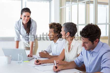 Assertive business co-workers in a meeting Stock photo © wavebreak_media