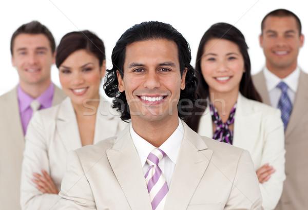 Présentation joyeux équipe commerciale blanche affaires sourire Photo stock © wavebreak_media