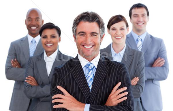 портрет конкурентоспособный бизнес-команды белый бизнеса улыбка Сток-фото © wavebreak_media