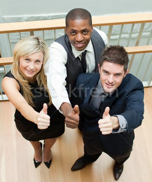 Ludzi biznesu schody wysoki widoku kobieta Zdjęcia stock © wavebreak_media