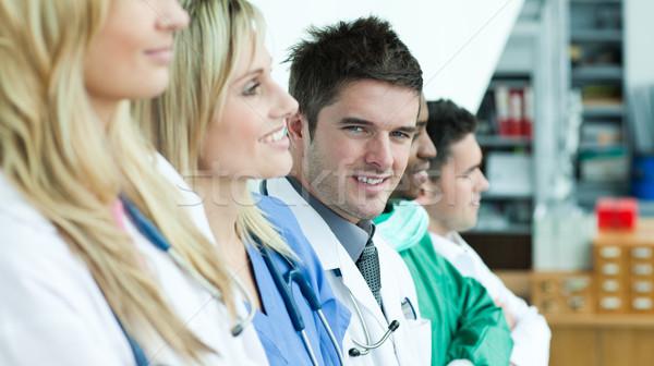 Medical team of five surgeons Stock photo © wavebreak_media