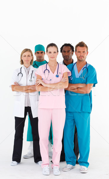 Serious team of doctors looking at the camera Stock photo © wavebreak_media