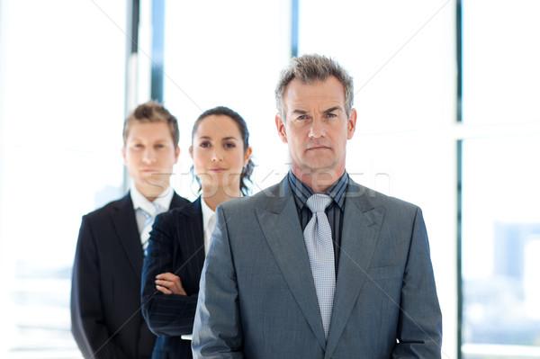 бизнесмен ведущий бизнес-команды старший бизнеса заседание Сток-фото © wavebreak_media