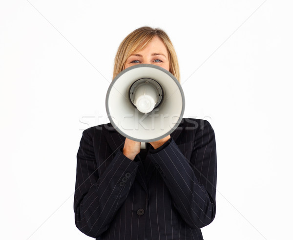 Closeup of a manager businesswoman with a megaphone Stock photo © wavebreak_media