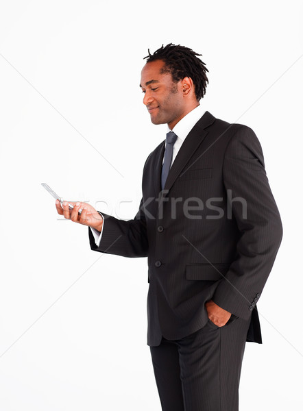 Geschäftsmann Business Telefon Anzug Stock foto © wavebreak_media