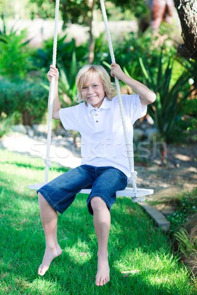 Enfant jouer Swing parc heureux été Photo stock © wavebreak_media