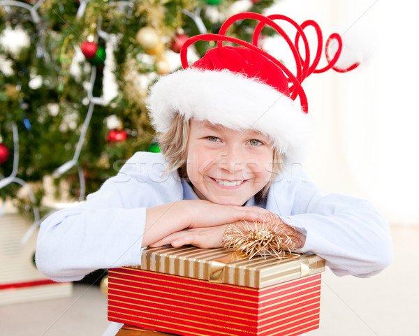 Adorable child celebrating christmas Stock photo © wavebreak_media