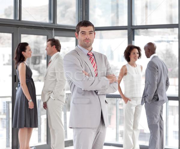 Portret aantrekkelijk mannelijke manager leidend team Stockfoto © wavebreak_media