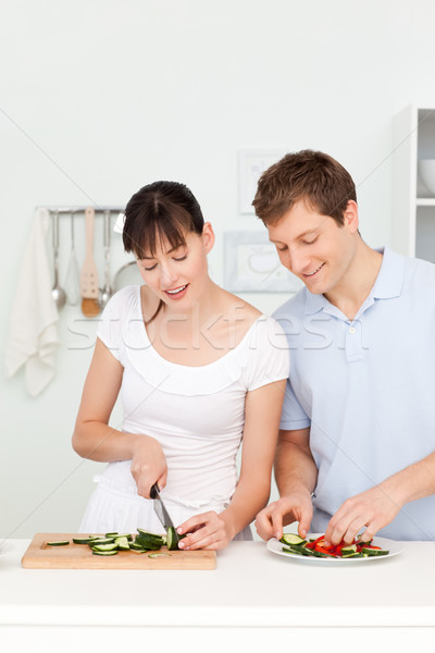 Lovers cooking together in the kitchen at home Stock photo © wavebreak_media