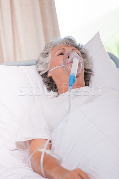 Senior woman with her respirator Stock photo © wavebreak_media