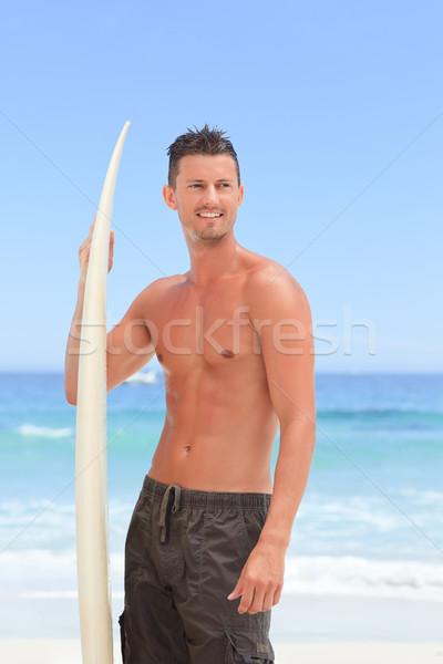 человека позируют доска для серфинга воды спорт морем Сток-фото © wavebreak_media