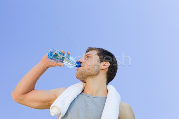 Man drinking water after the gym Stock photo © wavebreak_media
