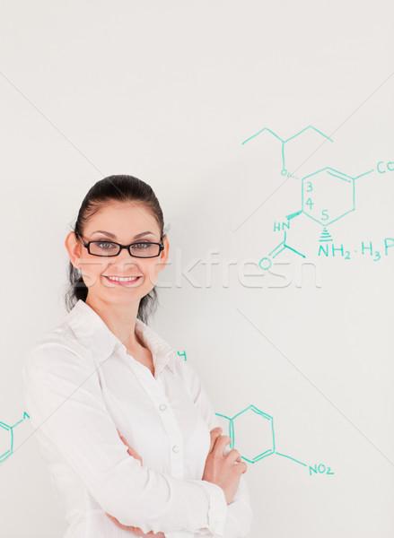 ученого женщину глядя камеры Постоянный Сток-фото © wavebreak_media