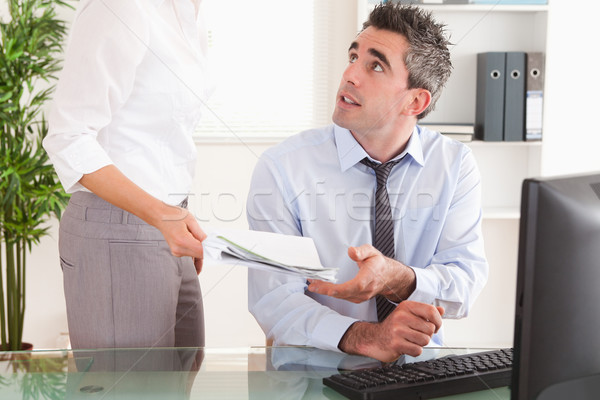 Manager documento segretario ufficio carta imprenditore Foto d'archivio © wavebreak_media