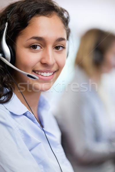 Portret klant assistent hoofdtelefoon computer Stockfoto © wavebreak_media