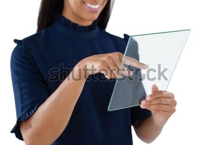 Retrato empresária algemas branco mão sensual Foto stock © wavebreak_media