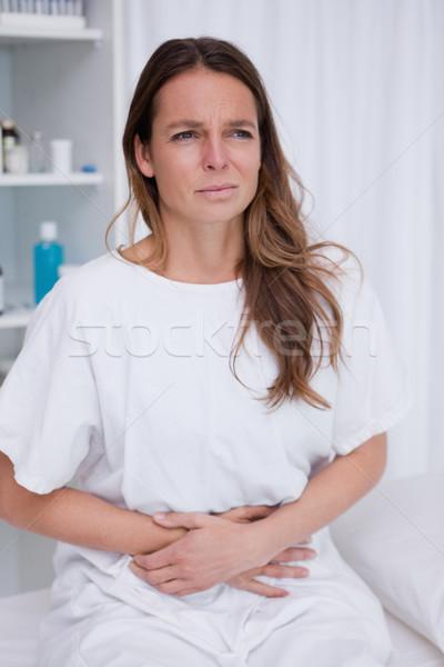 Mulher terrível barriga dor corpo hospital Foto stock © wavebreak_media