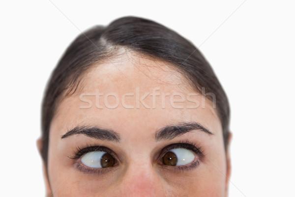 Vrouw witte gezicht achtergrond leuk Stockfoto © wavebreak_media
