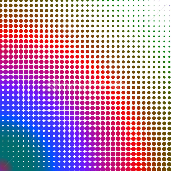 Multicolored dots changing form against a white background Stock photo © wavebreak_media