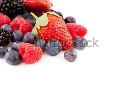 Obfitość jagody biały tle deser słodkie Zdjęcia stock © wavebreak_media