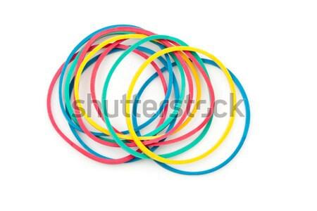 Group of multi coloured elastics against a white background Stock photo © wavebreak_media