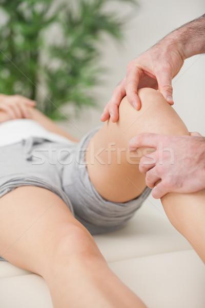指 膝 患者 ルーム 医師 ストックフォト © wavebreak_media