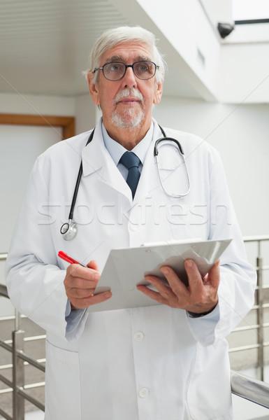 Stok fotoğraf: Doktor · dosya · hastane · koridor · kâğıt