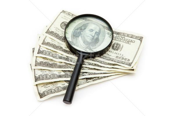 Lupa ventilador dinero cara Foto stock © wavebreak_media