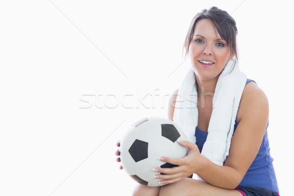 Ritratto felice donna abbigliamento sportivo calcio Foto d'archivio © wavebreak_media