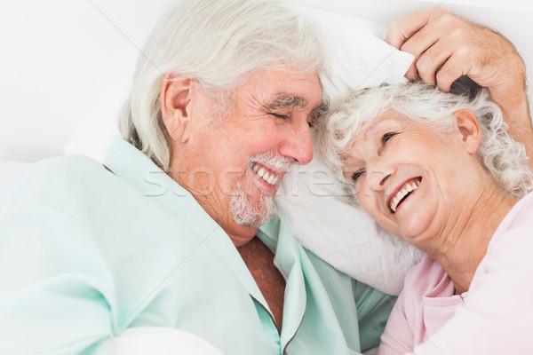 Gelukkig paar bed ouder liefde man Stockfoto © wavebreak_media