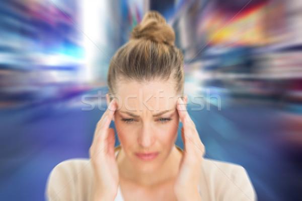 Composite image of woman with headache Stock photo © wavebreak_media
